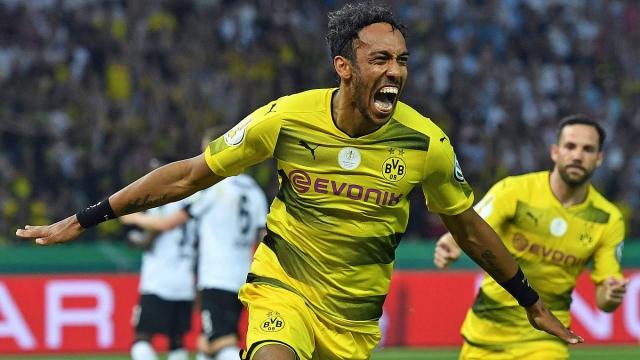 Dfb Pokal Finale Aubameyang Schießt Bvb Zum Sieg
